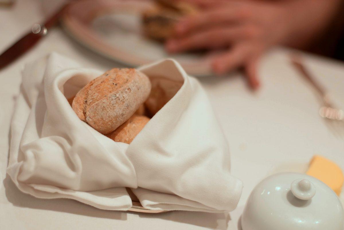 パンも一緒にでてきたバターも美味しかったです